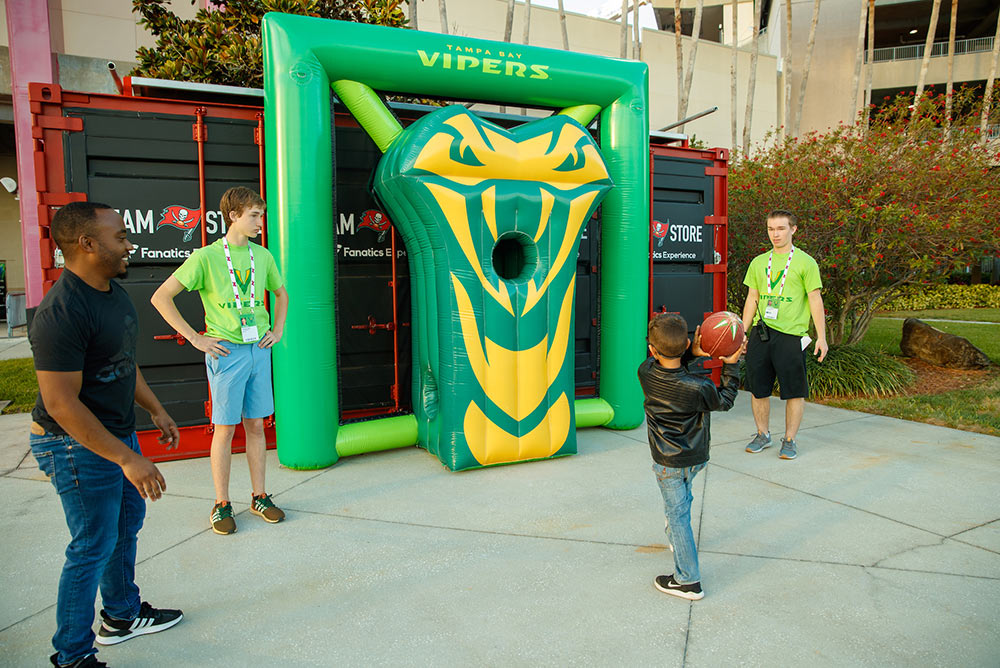 03_XFL Tampa Bay Vipers_Inflatable Football Toss Game