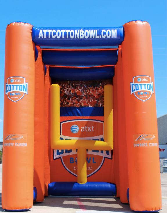 11_AT_T Cotton Bowl_Interactive Inflatable Football Field Goal Kick