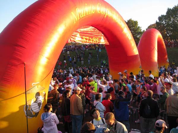19_Marine Corps Marathon_Double Inflatable Arch