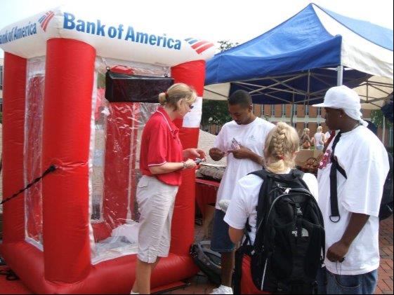 15_Bank of America_Interactive Inflatable Cash Machine