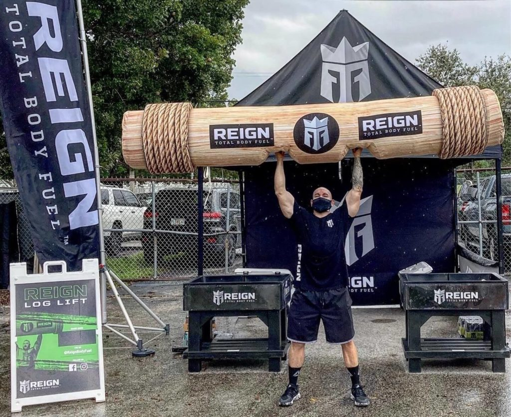 17_Reign Body Fuel_Sealed Inflatable Log Lift Photo Prop
