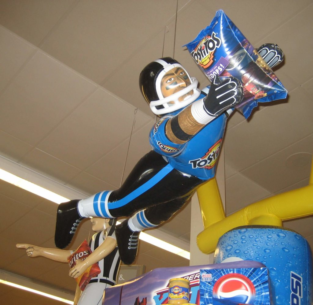 36_Frito-Lay_Super Bowl Diving Player Sealed Point-of-Sale Display Inflatable