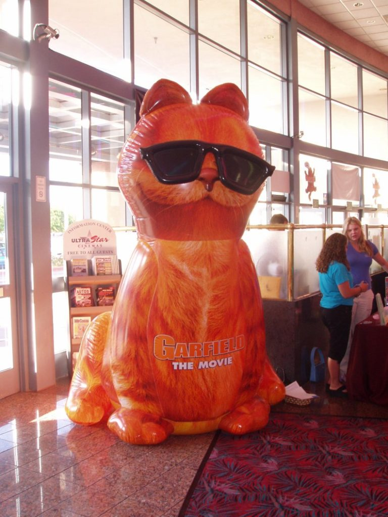 37_Garfield Movie_In-Theatre Promotional Inflatable