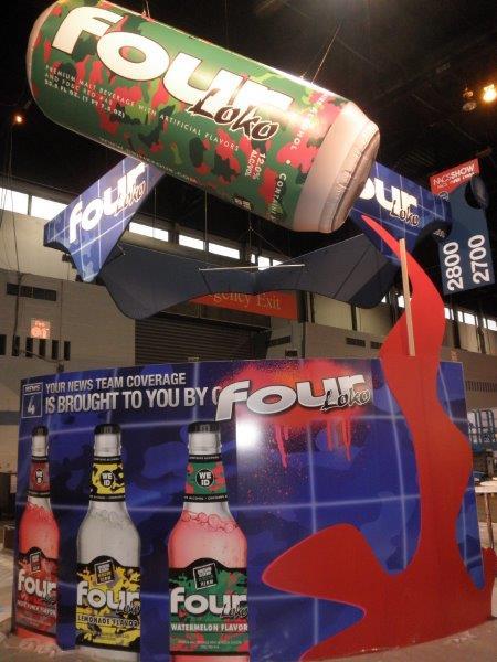 58_Four Loko_Inflatable Tradeshow Display