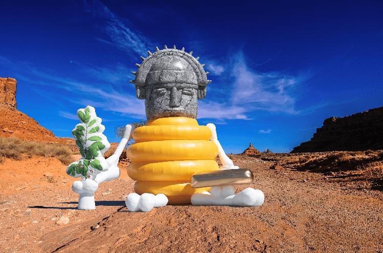 23_MuMo – Mobile Museum_God of Honey Art Inflatable